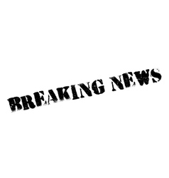 Breaking News rubber stamp vector