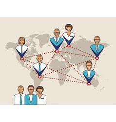 Business concept of management remote service and vector image