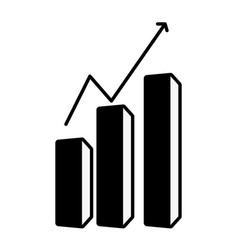 business growth chart vector image