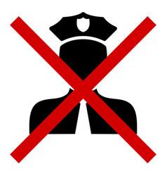 Cancel policeman - icon vector