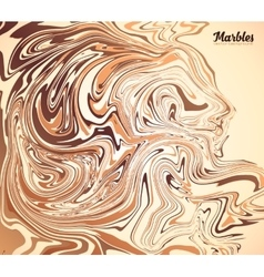 Cappuccino coffee colors marble background vector