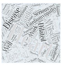 Cardiomyopathy Word Cloud Concept vector
