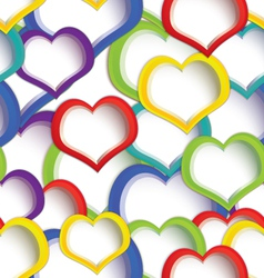 Colorful hearts seamless vector image