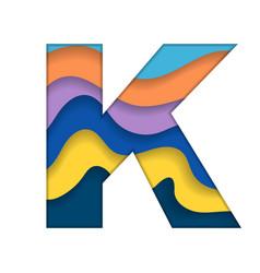 Colorful letter k vector
