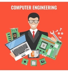 Computer Engineering Flyer vector