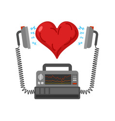 Defibrillator and heart medical device vector