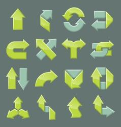 Design set of modern arrow vector image
