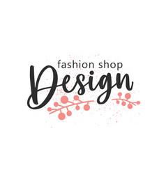 designer fashion shop handwritten color lettering vector image