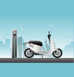 electric scooter for sharing vector image
