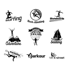Extreme sports label sketch vector image