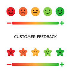 feedback concept set of emoji scales for web and vector image
