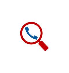 find call logo icon design vector image