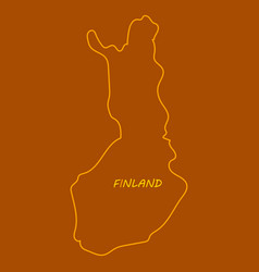 finland map with shadow effect vector image