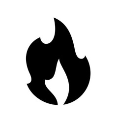fire flames new black icon on a white background vector image