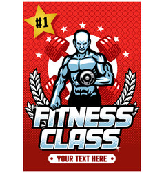fitness class poster vector image
