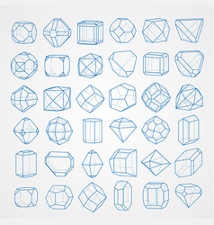 geometry figures vector image