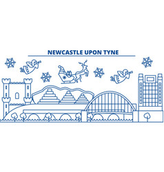Great britain newcastle upon tyne winter city vector