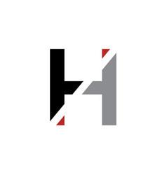 h letter logo architecture emblem vector image