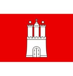 Hamburg Flag vector