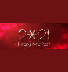 Happy new year 2021 holiday text design vector