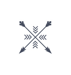 Hipster arrow premium logo arrowhead minimal vector