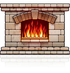 Home fireplace Christmas vector