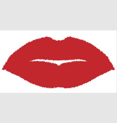Isolated lip kiss vector