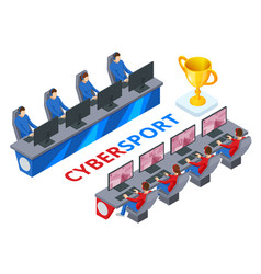 Isometric cybersport or electronic sports e vector