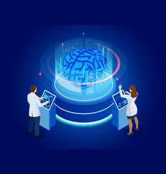 isometric scientific development artificial vector image