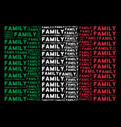Italy flag collage of family texts vector