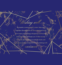 marble wedding well wishes card geometric design vector image