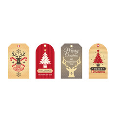 merry christmas badges cloth labels handcraft vector image