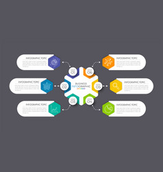 modern infographic with 6 option vector image