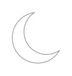 moon sign black dotted icon vector image