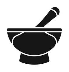 Mortar and pestle pharmacy flat icon for apps vector