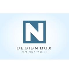 N logo icon template monogram vector