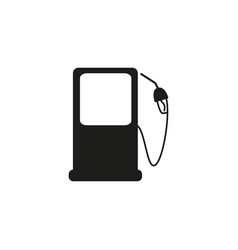 petrol gas station black icon vector image