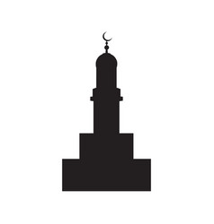 picture of the silhouette of the building vector image
