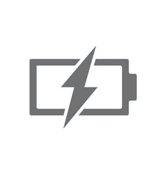 power battery with lightning bolt icon vector image