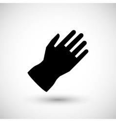 Protective glove icon vector