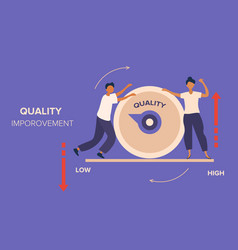 Quality management and improvement abstract vector