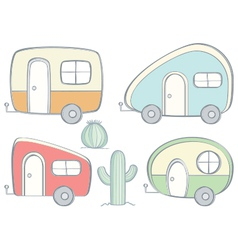 Retro Campers vector