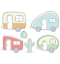 Retro Campers vector image