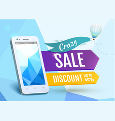 Sale Smartphone poster design vector image