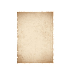 Sheet of old paper vector image