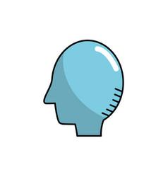silhouette side man head design vector image