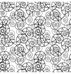 Snails shells on white background vector