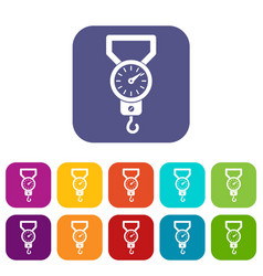 spring scale icons set vector image