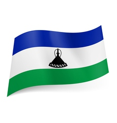 State flag of Lesotho vector