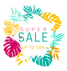 Summer sale banner template abstract brush stroke vector